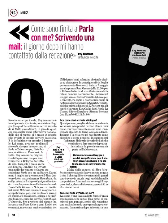 2011, Evy Arnesano Paolo Belli