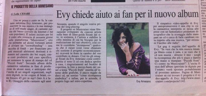 2013_Evy Arnesano Articolo di Leda Cesari