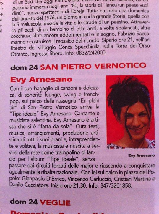 Qui Salento luglio 2011 Evy Arnesano