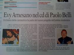 Evy Arnesano nel cd di Paolo Belli