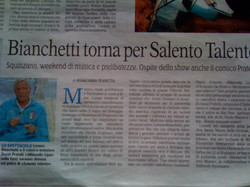 Evy Arnesano La Gazzetta del Mezzogiorno 2010_