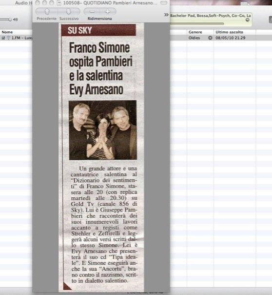 Quotidiano. Evy Arnesano