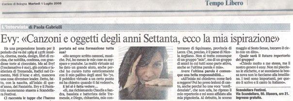 Evy Arnesano. Corriere della Sera Bologna