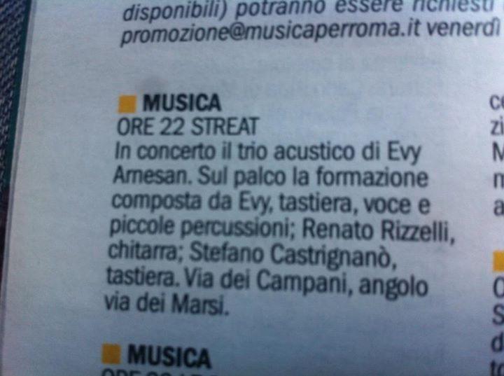 Evy Arnesano live Roma