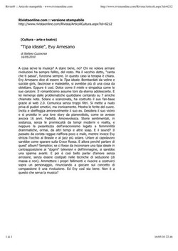 Evy Arnesano Tipa ideale, Rivistaonline.com
