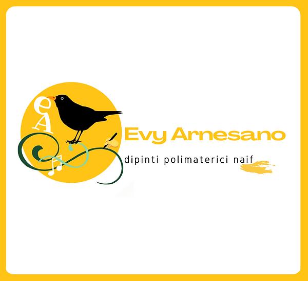 Evy ARNESANO Dipinti Polimaterici Naif