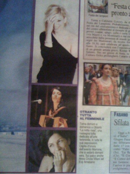 Evy Arnesano Il Quotidiano di Lecce 18/06/2010