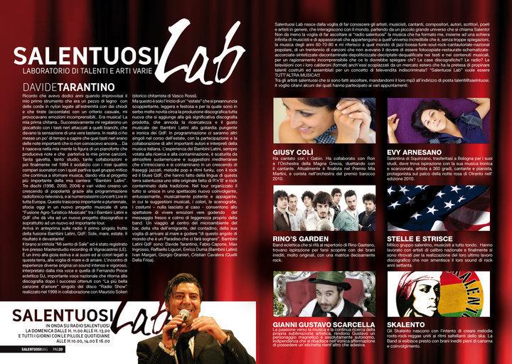 Evy Arnesano Salentuosi magazine