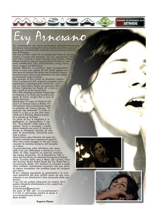 Artwhere, dicembre 2010, Evy Arnesano