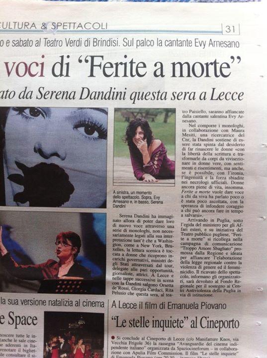 2013__Evy Arnesano Ferite a morte Serena Dandini