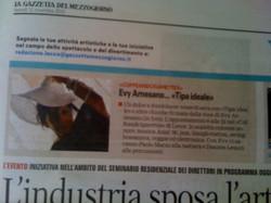 Evy Arnesano. La Gazzetta del Mezzogiorno 12/11/2010