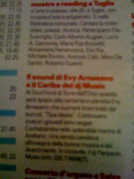 Evy Arnesano La Gazzetta del Mezzogiorno