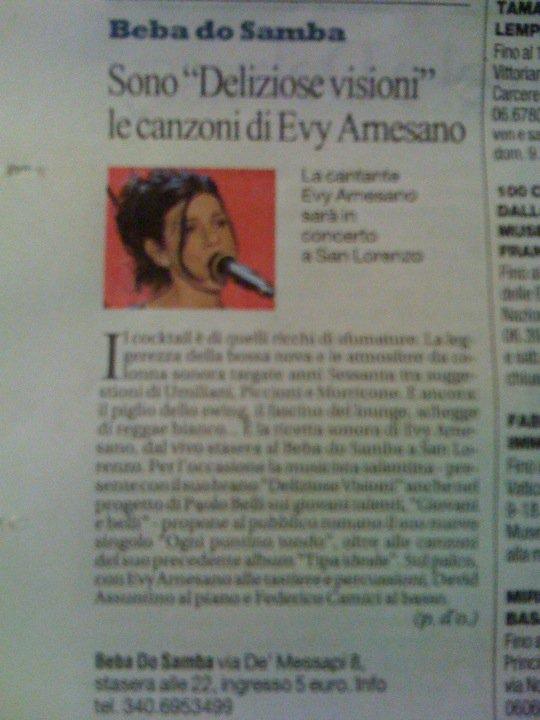 2011, Evy Arnesano La Repubblica Roma