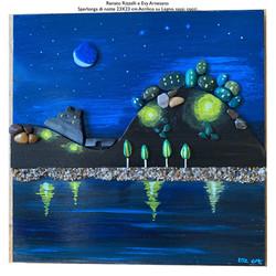 Veduta di Sperlonga (Lt)  di notte