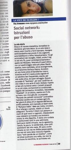 2008 Evy Arnesano Sole 24 ore