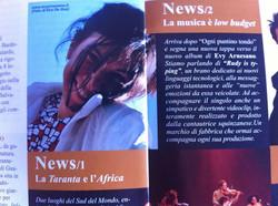 Evy Arnesano Il Picchio magazine, luglio 2012