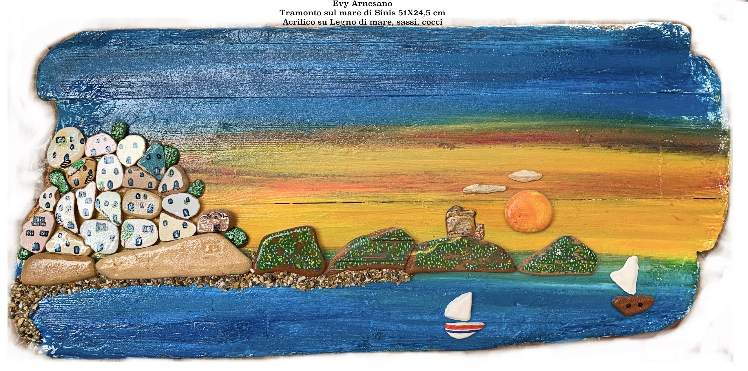 Tramonto sul mare di Sinis