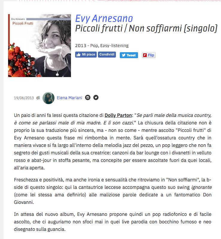2013 Rock it singolo Evy Arnesano d