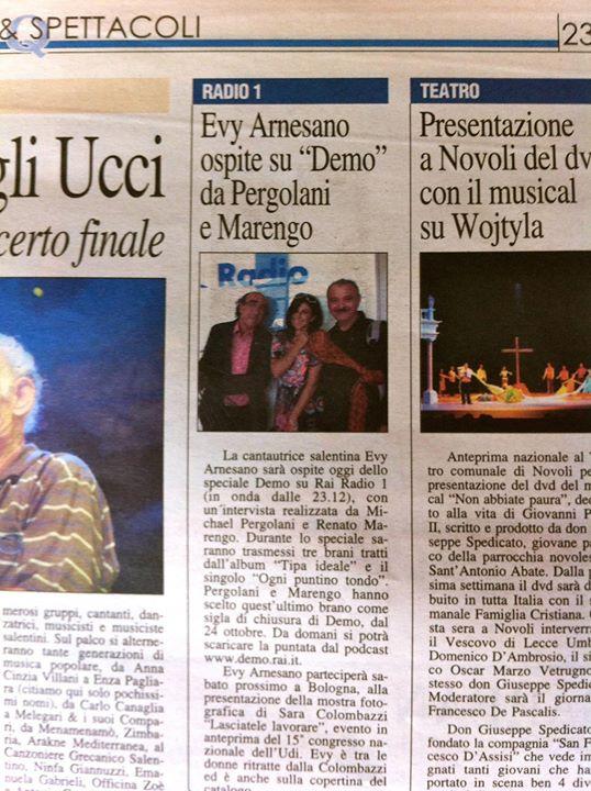 2011 Evy Arnesano Demo Rai Pergolani Marengo