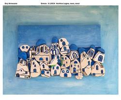 Santorini di sassi dipinti