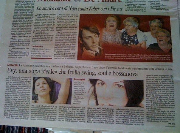 Evy Arnesano Corriere della sera Bologna.12/3/2010
