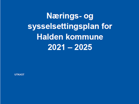 Høring: Nærings- og sysselsettingsplan for Halden Kommune 2021-2025