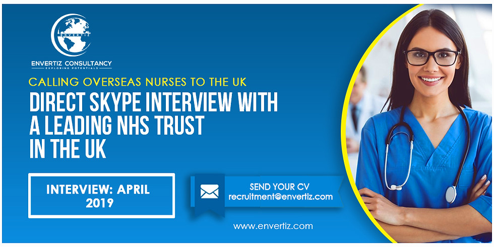 Direct Skype Interview with a leading NHS Trust in the UK.