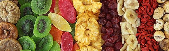Gedroogde groenten, fruit & noten