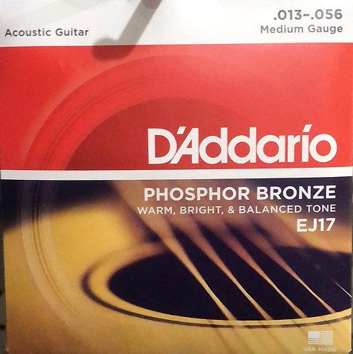 D'Addario Medium Acoustic Guitar Strings .013-.056