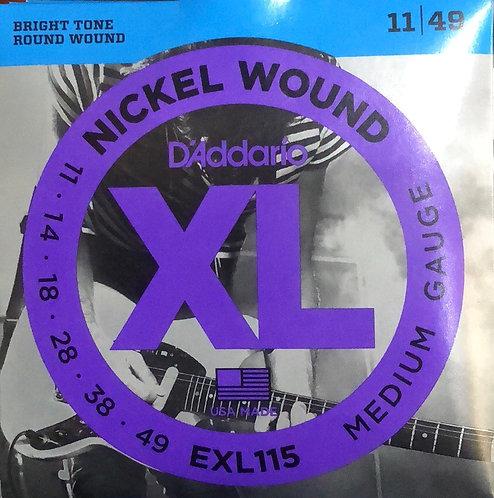 D'Addario XL Medium Electric Guitar Strings 11-49