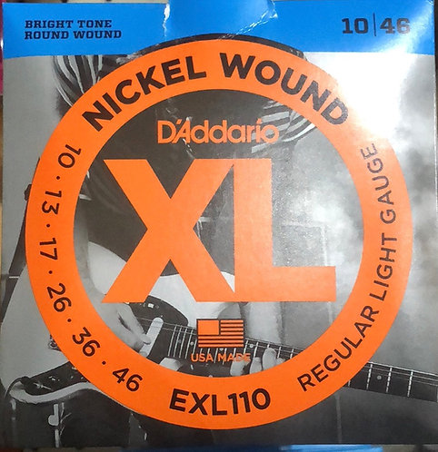 D'Addario XL Regular Light Electric Guitar Strings 10-46