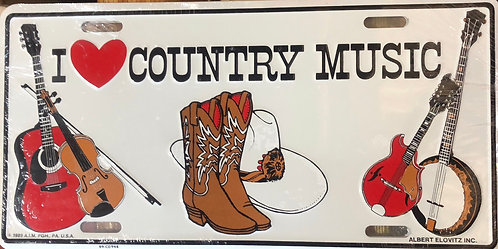 I love Country Music plate