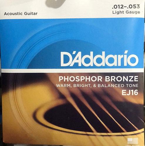 D'Addario Light Acoustic Guitar Strings .012-.053