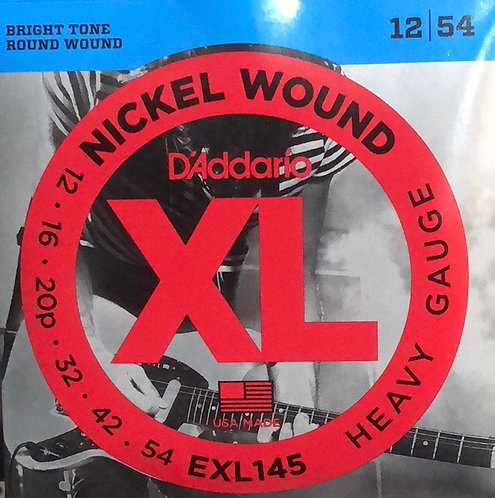D'Addario XL Heavy Electric Guitar Strings 12-54
