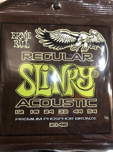 Ernie Ball Regular Slinky Acoustic Guitar Strings 12-54