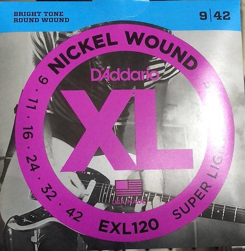 D'Addario XL Super Light Electric Guitar Strings 9-42