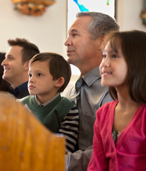 Family at a Central United Church Service