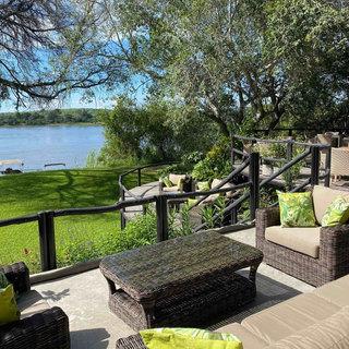 Sun and dining decks at Waterberry Lodge on the Zambezi