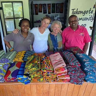 The Community Shop at Waterberry Lodge where sales of all items are donated 100% to the community projects.   Items in the shop are made locally and by volunteers - who also tutor in skills such as sewing.