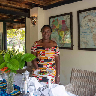 Excellent food served with a big Zambian smile at Waterberry Lodge