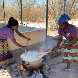 All children attending Tukongote have at least one meal a day, provided by generous donors from Waterberry Lodge, Livingstone, Zambia