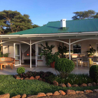 Veranda at River Farmhouse the exclusive use house at Waterberry Lodge
