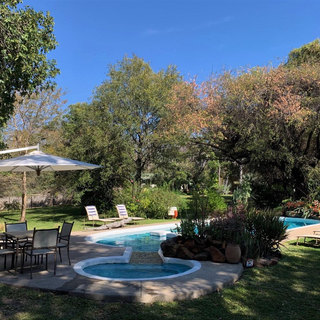 Swimming pool in the gardens at Waterberry Lodge