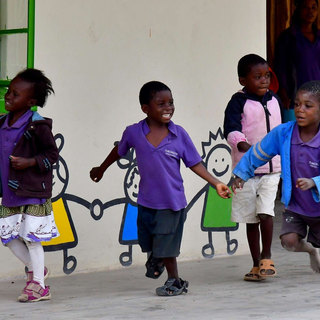 Playtime at Tukongote School near Waterberry Lodge, Livingstone, Zambia