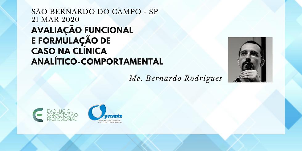 São Berrnardo do Campo - SP- Avaliação Funcional e Formulação de Caso na Clínica  Analítico-comportamental