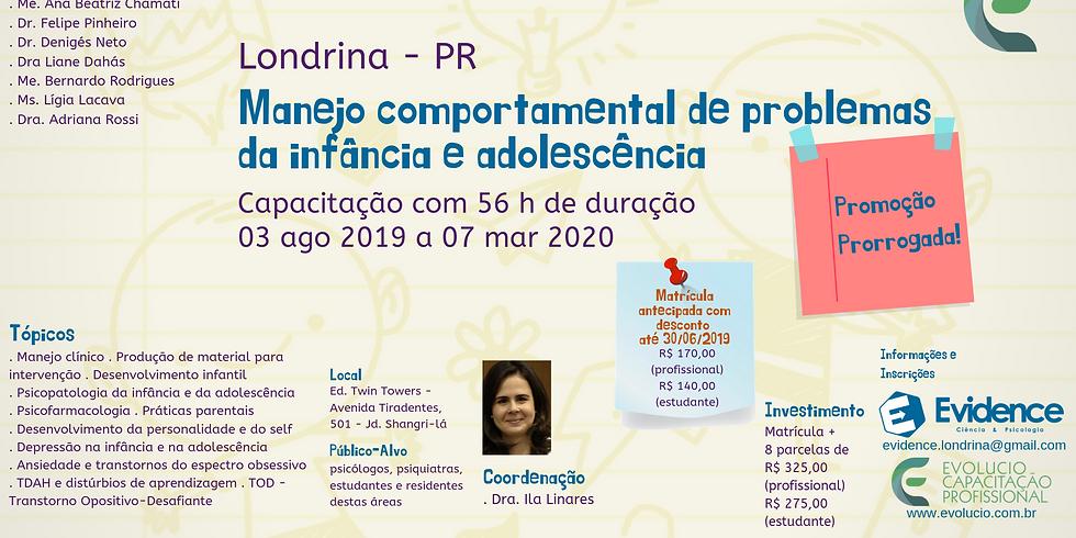 Londrina - PR - Manejo Comportamental de Problemas da Infância e da Adolescência (1)