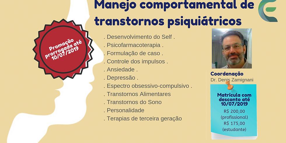 Feira de Santana - BA - Capacitação em Manejo comportamental de transtornos psiquiátricos