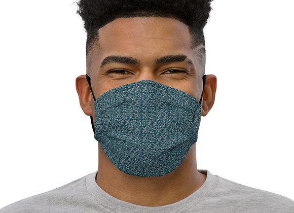 Diamond Scroll Premium face mask in Jewel