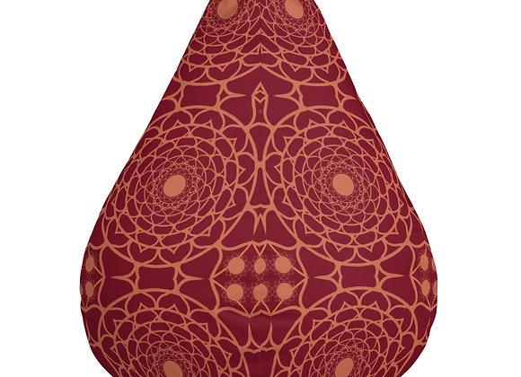 Flower Mandala Bean Bag Chair Cover in Sienna