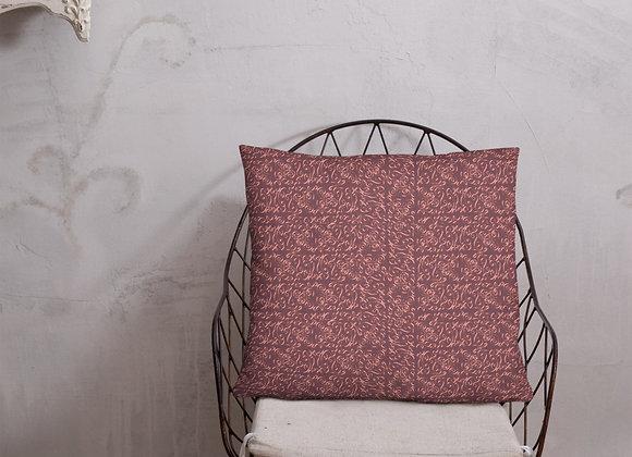 Diamond Scroll Pillow in Berry